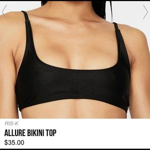 "RIS-K ""ALLURE"" BIKINI TOP, BLACK"